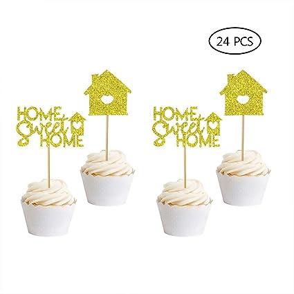 Home Sweet Home Cupcake Toppers-24 piezas para decoración de ...