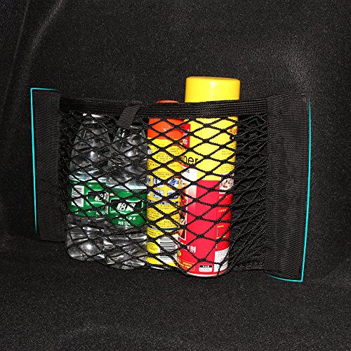 AndyGo Car Back Rear Trunk Seat Elastic String Net Mesh Storage Bag Pocket (Rear Mesh Pocket)