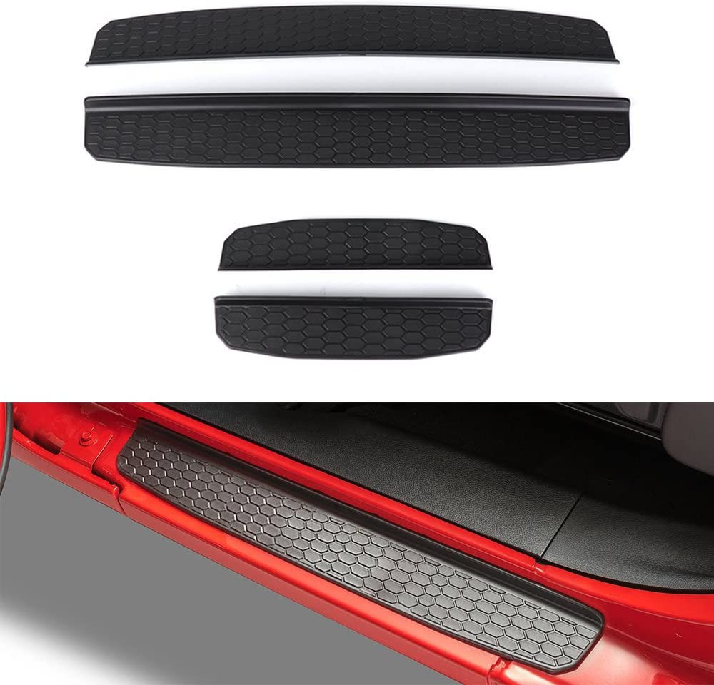 XLANJINGJ Jeep Wrangler JL 4 Door Sill Entry Guards Sill Guards Sill Plate Protectors for 2018 Jeep Wrangler JL Accessories