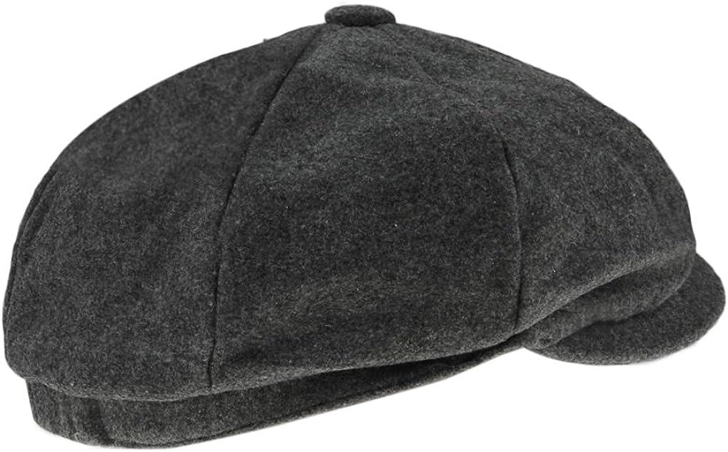 Ladies Womens Girls Wool Blend Baker Boy Peaked Cap Newsboy Hat Beret Fashion Sa