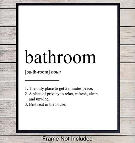 relax bathroom  Wall Print Definition noun Typography  Wall Art black and white