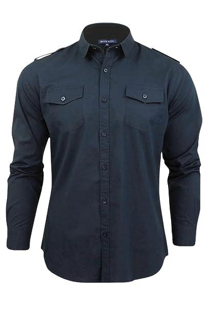 Azure Clothing Outlet - Camisa casual - camisa - para hombre Azul azul marino Small