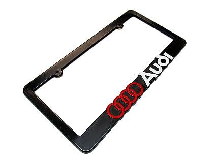 Amazon.com: AUDI License Plate Frame Black: Automotive