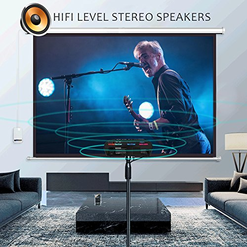 Video Projector Portable, CiBest GP90 LCD Projector HD 1080p 3500 Luminous Efficiency LED Multimedia Home Cinema Theater Entertainment Movie Party Game Projector HDMI VGA for Laptop iPad Smartphone by CiBest (Image #3)