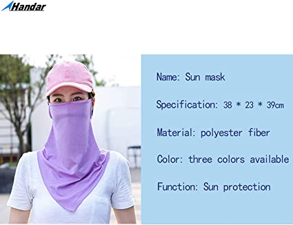 Women Outdoor UV Cut Mask Cool Feeling Sunscreen Face Neck Cover Protector US