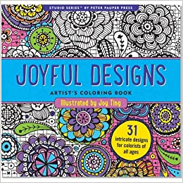 Amazon Joyful Designs Adult Coloring Book 31 Stress Relieving Studio 9781441317568 Joy Ting Books