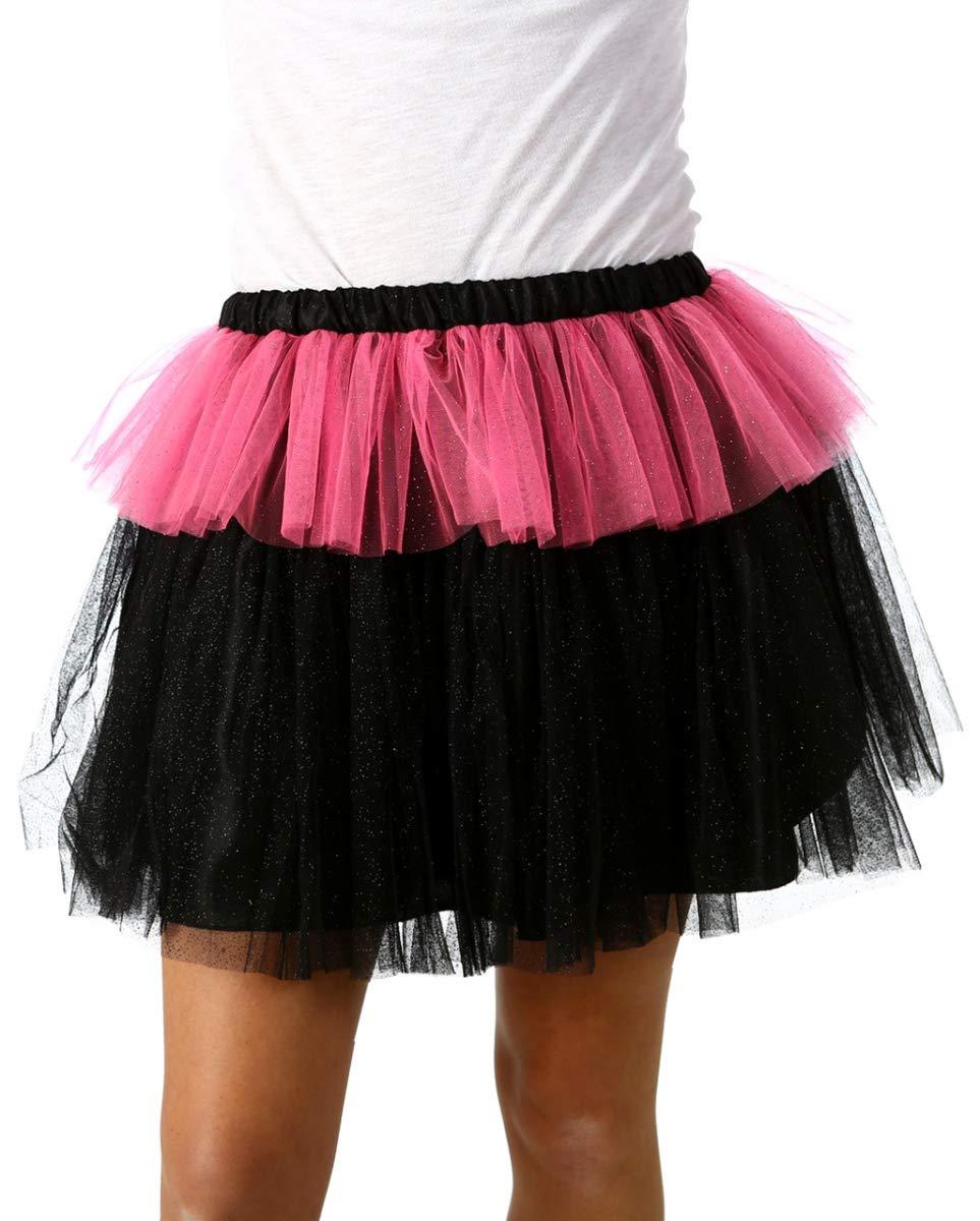 Horror-Shop Monstar Falda De Tul Brillante Rosa Negro One Size ...