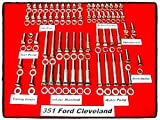 Ford 351 Engine Bolt Allen Kit 227 Pieces Cleveland 351C Stainless Steel Hex Parts - House Deals