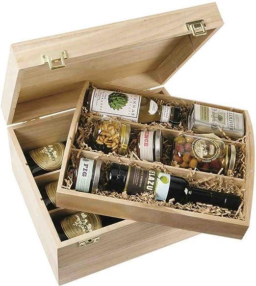 WBC - Caja de madera vacía para bebidas alcohólicas (capacidad para 6 botellas): Amazon.es: Hogar
