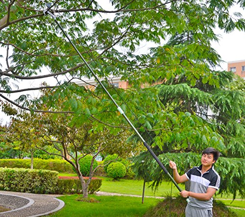 Telescopic Tree Pruning Saw (Worth Garden Pole Saw Compound Action Tree Pruner with Power Glide Rope Pull System and Telescopic Mechanism)