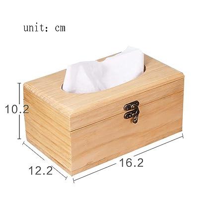 L&Y Cajas Vintage cartón de madera Inicio restaurante tejido caja sala de estar caja de tejido