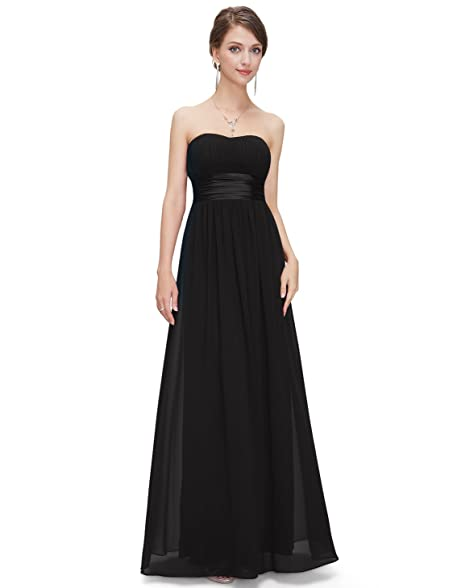Ever Pretty Women's Strapless Ruched Bust Chiffon Long Evening ...