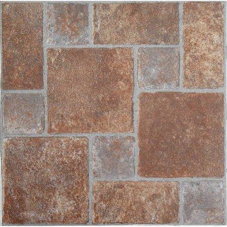 NEXUS 12x12 Self Adhesive Vinyl Floor Tile - 20 Tiles/20 Sq.Ft. (Brick Pavers)