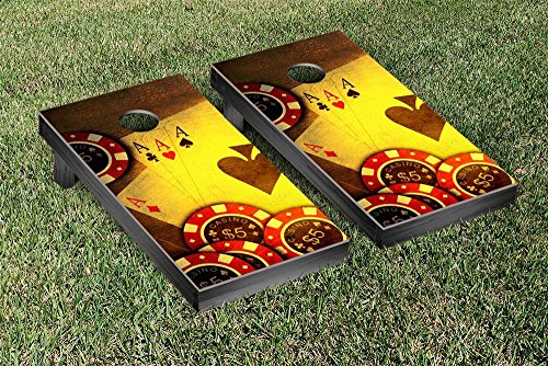 Poker Cards and Chips Cornhole Game Set by Victory Tailgate
