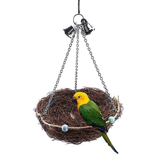 Juguetes de ratán de nido de pájaros de nido de pájaros naturales ...