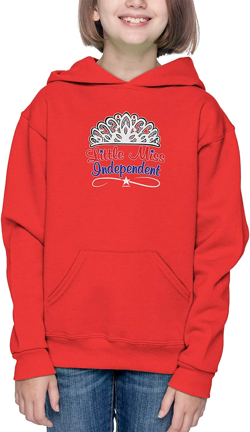 Little Miss Independent USA Tiara Toddler//Youth Fleece Hoodie