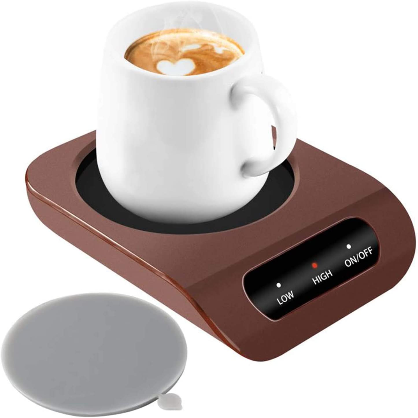 Coffee Mug Warmer – Desktop Beverage Warmer – Electric Cup Warmer Tea Water Cocoa Milk for Office Desk and Home Use 110V 35W Best Gift for Coffee Lovers with Automatic Shut Off Function