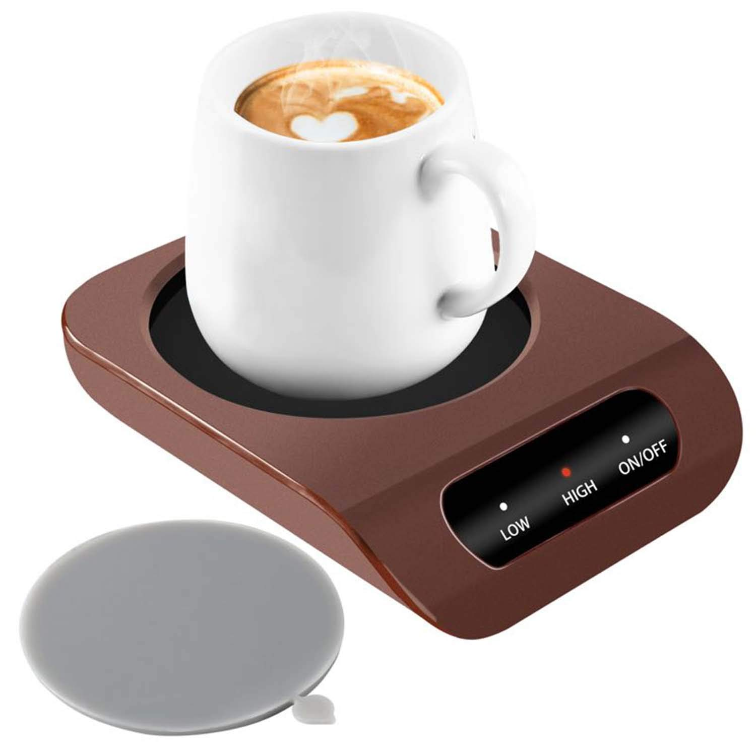 Coffee Mug Warmer - Desktop Beverage Warmer - Electric Cup Warmer Tea Water Cocoa Milk for Office Desk and Home Use 110V 35W Best Gift for Coffee Lovers with Automatic Shut Off Function by KUWAN