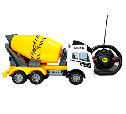 HALO NATION® Remote Controlled Concrete Mixer Truck - RC Construction  Vehicle (Big Size 26cm)