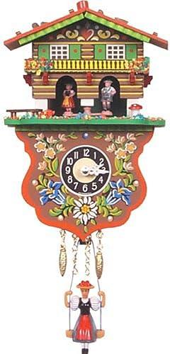 Alexander Taron Boy and Girl Weather House Cuckoo Clock