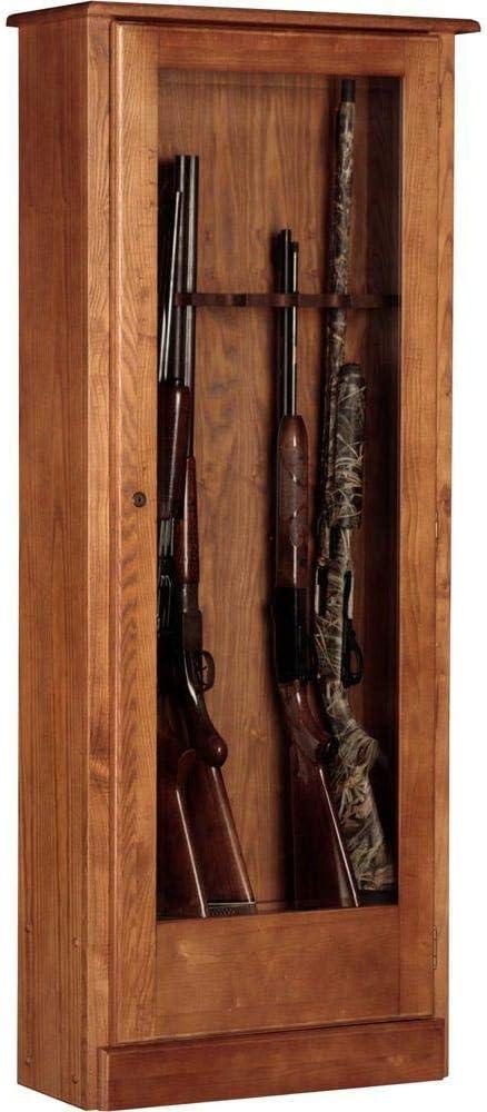 B0040K6NBG American Furniture Classics Ten Gun Cabinet 724-10 724-10, 10 Gun Cabinet 61GWeARJcJL.SL1000_
