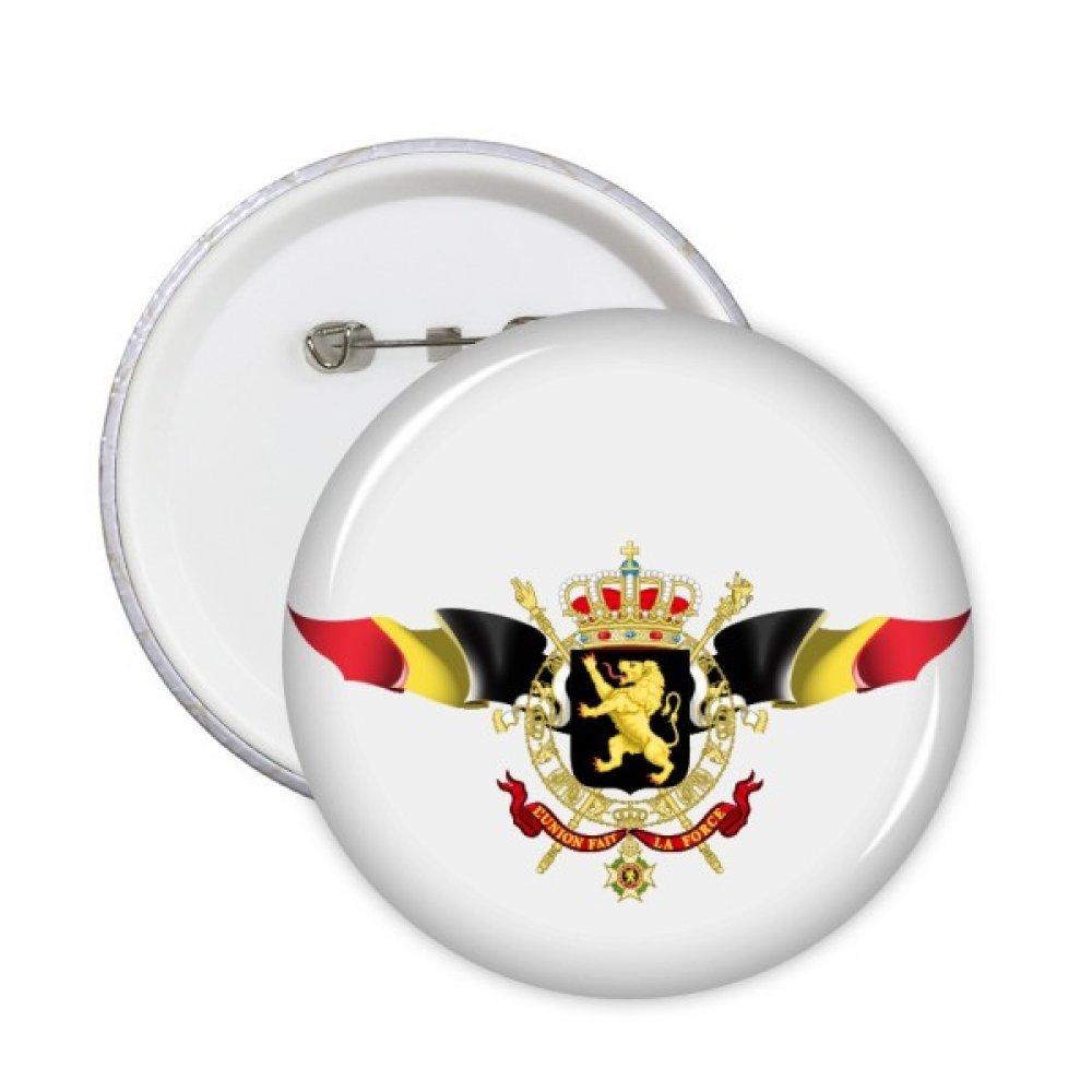 DIYthinker Ronde nationale emblème BelgiumFlag Pins Badge Bouton Décoration Vêtements 5pcs cadeaux Multicolore S DIYlab sku00286402f20360-S