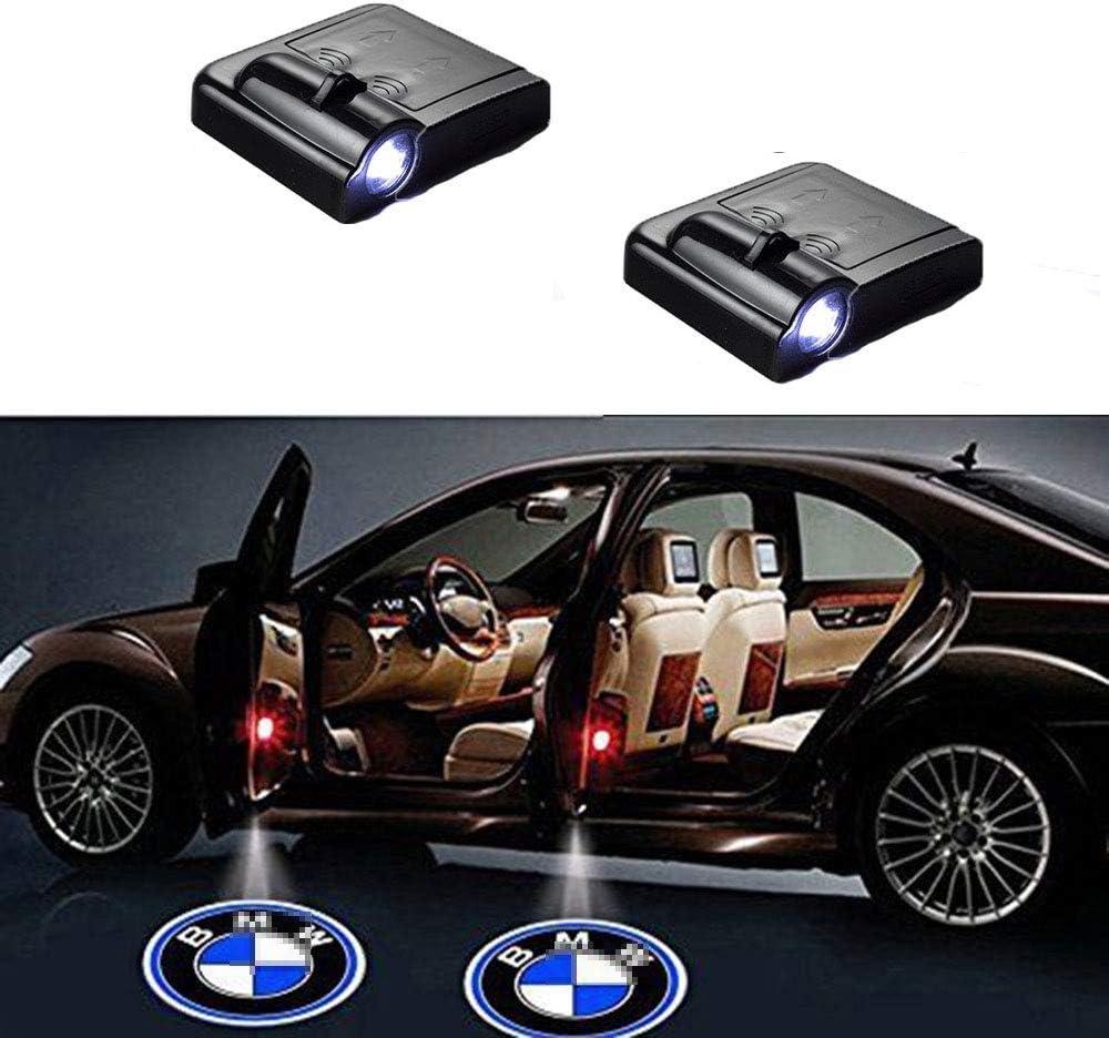 MIVISO 2 Piezas Coche Logo Proyector Iluminación de la entrada de la luz del coche LED 3D Luz de la lámpara del logotipo del proyector de bienvenida