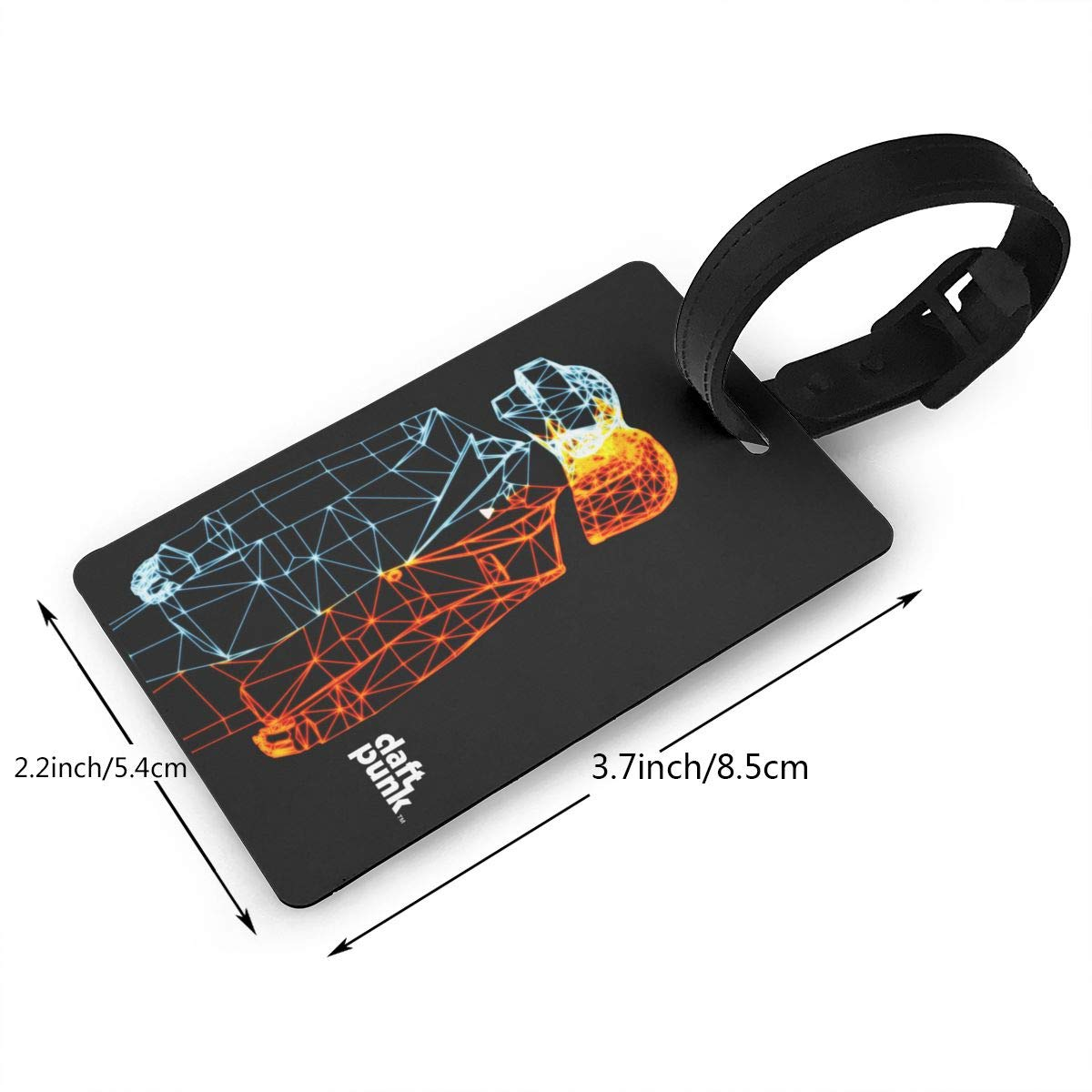 Hushuxiapp Daft Punk Complete Printed Design PVC Luggage Tag Travel Suitcase ID Labels Accessories Leather Wristband