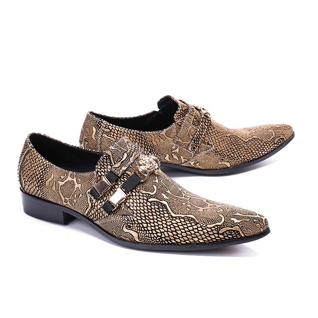 Herren Freizeitschuhe Britische Mode Mode Goldene Goldene Goldene Schuhe 1defc0