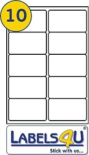 8 per page sheet 20 sheets 160 sticky labels white blank matt