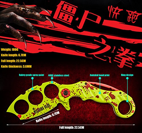 Zombie boxing folding knife field survival Sabre knife, portable tool, outdoor knife