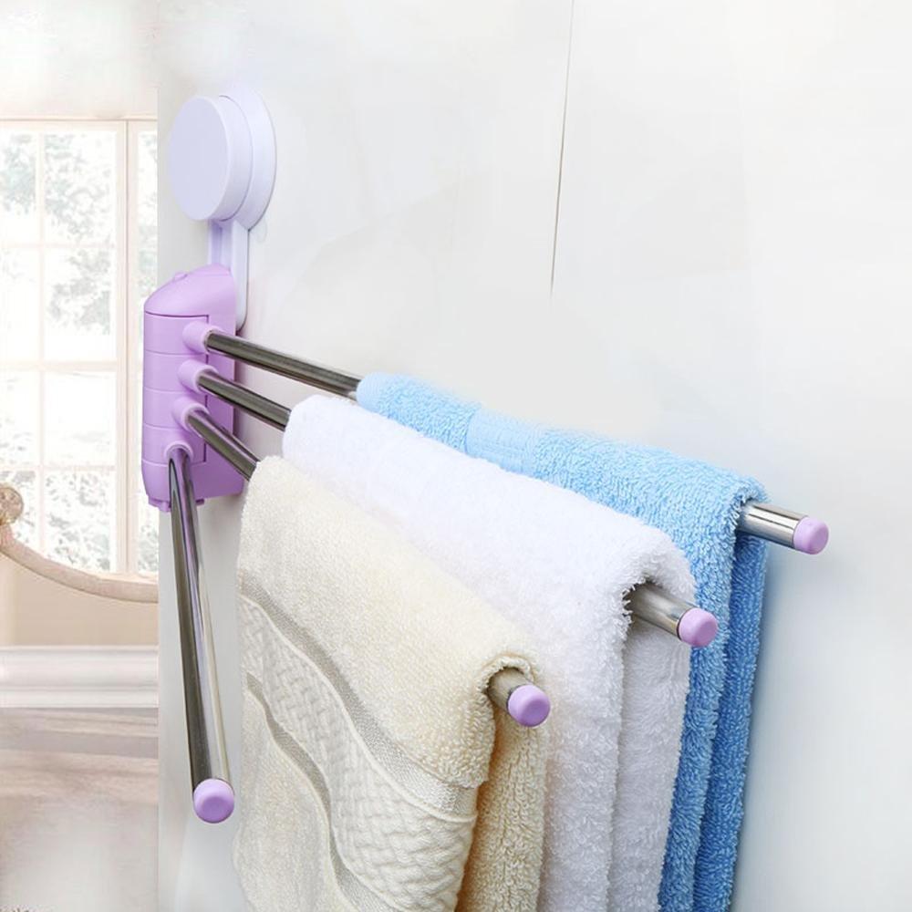 free shipping KHSKX Punch-free, powerful cupule, bathroom Towel rack, waterproof wall suction towel bar , Purple