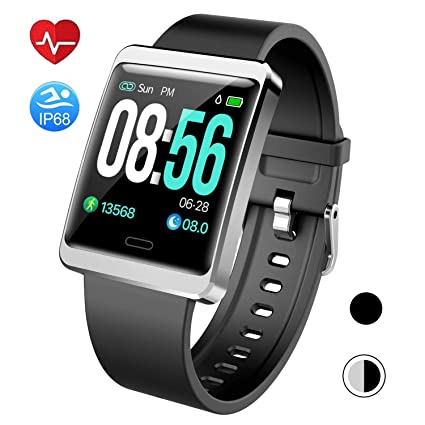 Mgaolo Smart Watch Fitness Tracker,Activity Tracker Smartwatch with Change Brightness Screen,IP68 Swimming Waterproof Fit Watch Wristband with Heart ...