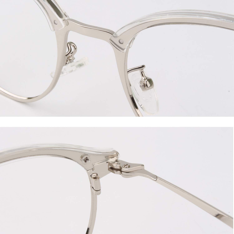CGID Brillengestelle f/ür Damen und Herren 2019 Neue Mode High End Metall //Tr90 Rahmen nicht verschreibungspflichtige Brille mit klaren Gl/äsern