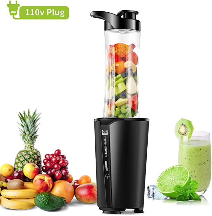 Smoothies Blender, Bullet Blender & Personal Blender, Small Blender for Milkshakes and Smoothies, Vegetables and Fruits Juice, with 20 oz Portable Bottle, BPA Free, 300W (92.4 x 80.4 x 115.8 inches)