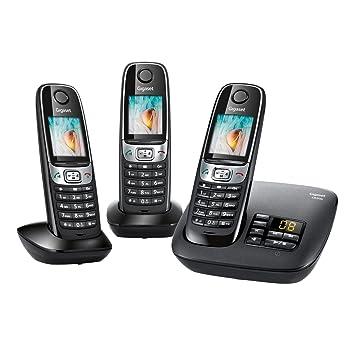 Gigaset C620A Trio - Teléfono fijo digital (inalámbrico, 3 unidades), negro (importado): Amazon.es: Electrónica
