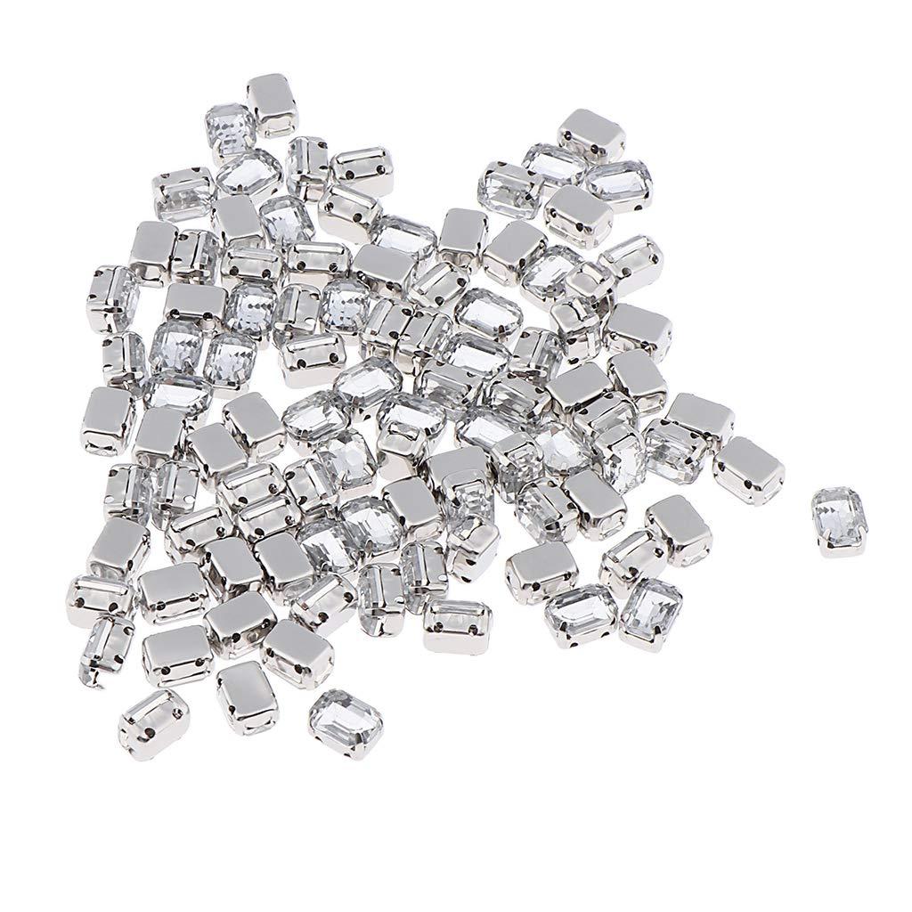 B Baosity 100pcs Acr/ílico Flatback Cose de Diamantes Imitaci/ón Flatback para Decoraci/ón de Ropa y Bolso Sombrero 10 mm