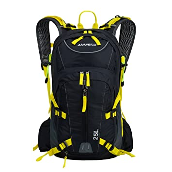 Lixada – Mochila para bicicleta para viajes, 25 l, montañismo, impermeable con cubierta de lluvia, amarillo: Amazon.es: Iluminación