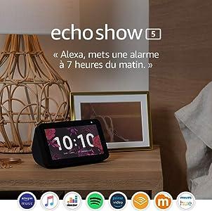 Echo Show 5, Restez en contact avec l'aide d'Alexa, Noir