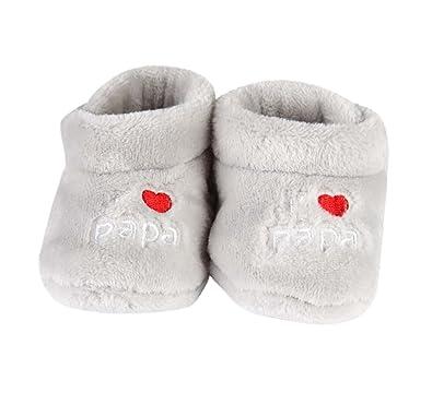 6f726a6a82301 chausson j aime papa - bébé - gris  Amazon.fr  Chaussures et Sacs