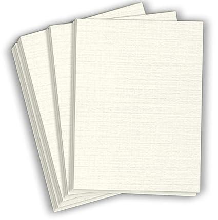 Hamilco Papel de cartulina con textura de lino blanco para resume ...