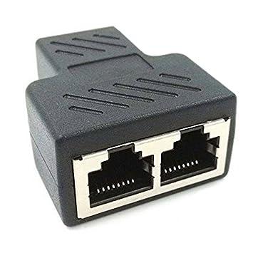 5X RJ45 CAT5//6 Ethernet Cable LAN Port 1 to 2 Socket Splitter Connector Adapter