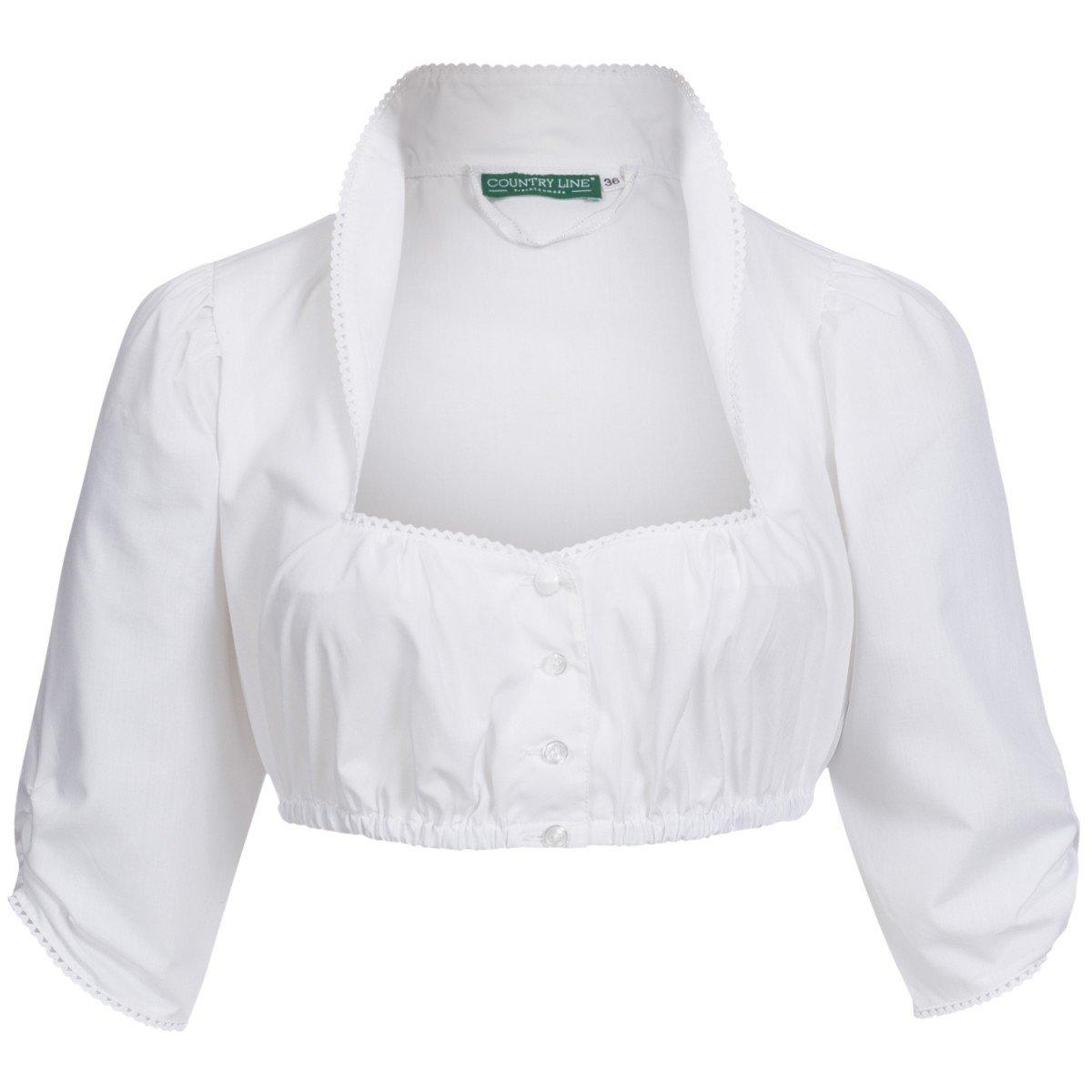 Country Line Damen Trachten-Mode Dirndlbluse Liberta in Weiß traditionell
