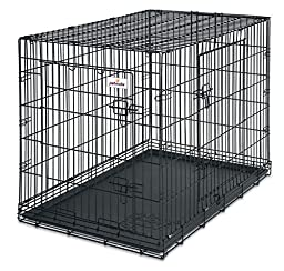 Petmate 38-Inch 2-Door Training Retreats Wire Kennel for Dogs, 70 to 90-Pound