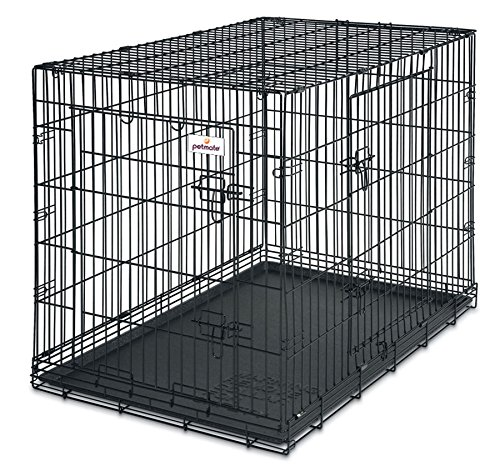 Petmate 38-Inch 2-Door Training Retreats Wire Kennel for Dogs, 70 to 90-Pound Review
