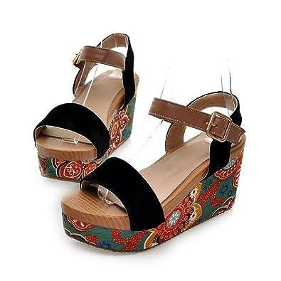 Amazon.com | New Summer Womens Fashion Wedge Heels Sandals Bohemia ...