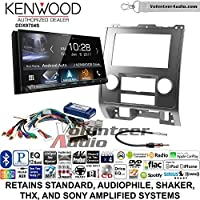 Volunteer Audio Kenwood DDX9704S Double Din Radio Install Kit with Apple Carplay Android Auto Fits 2008-2012 Ford Escape, Mazda Tribute, Mercury Mariner