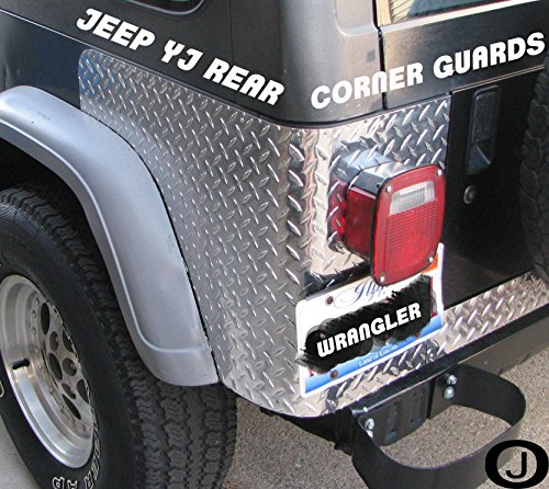 Jeep Yj Wrangler 3 Pc Diamond Plate Rear Body Armor Corner Guard Kit Jeep Wrangler Diamond Plate