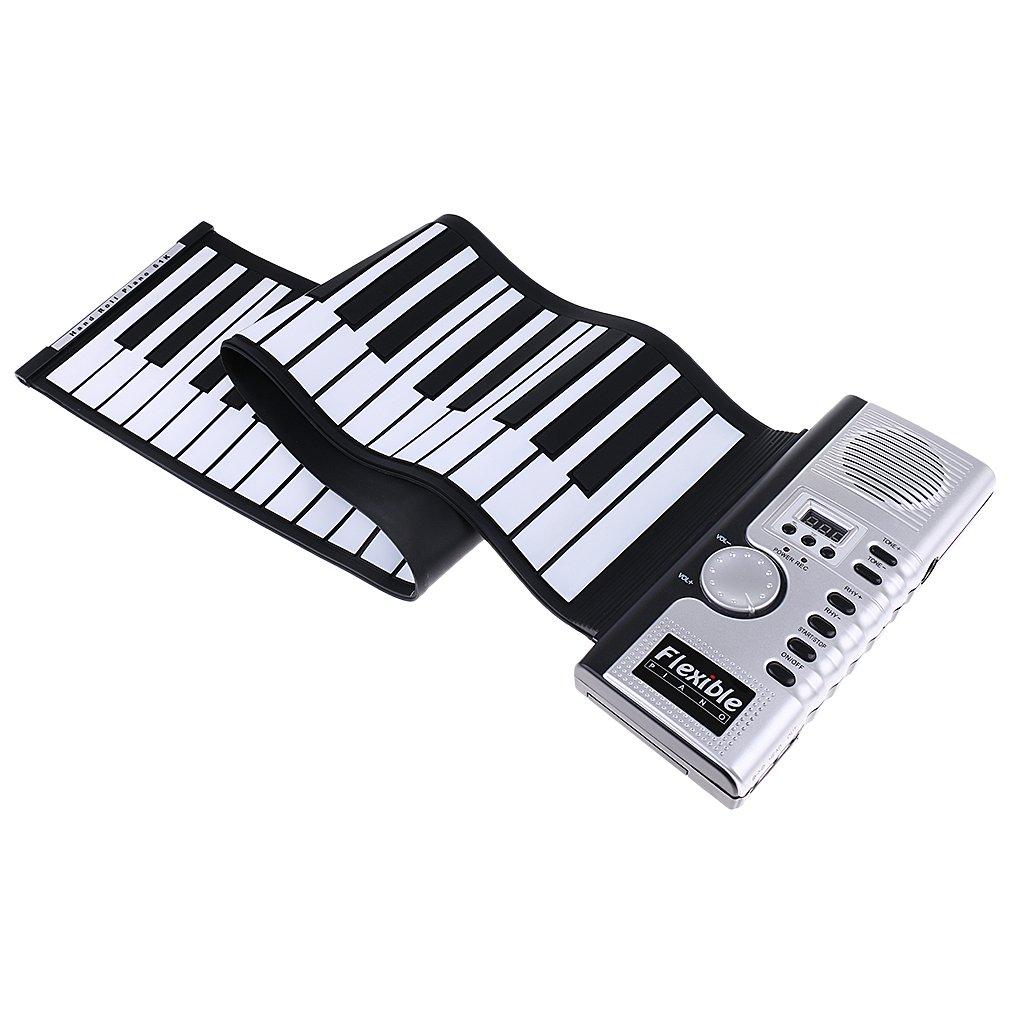 Magideal Teclado De Piano Electrónico De 61 Teclas Teclado Flexible Roll Up Up Musical Instrumento Con Altavoz Portátil