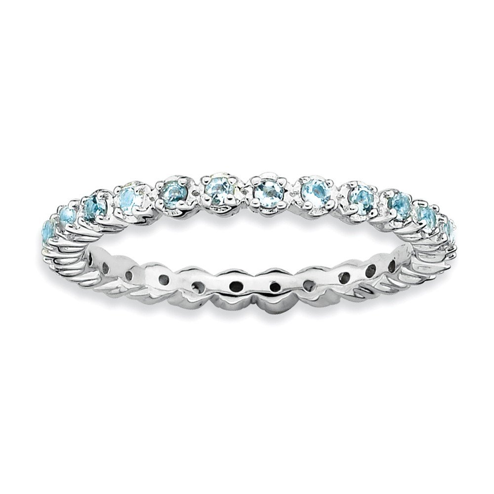 Top 10 Jewelry Gift Sterling Silver Stackable Expressions Aquamarine Ring
